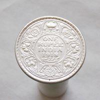 Британская Индия 1 рупия 1918 СЕРЕБРО