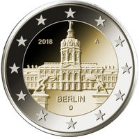 2 евро 2018 Германия F Берлин UNC из ролла