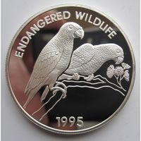 Ямайка. 25 долларов 1995 Птицы. Серебро (41)