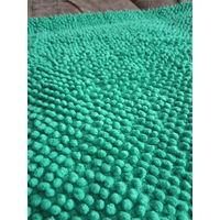 Коврик для ванной хлопковый изумрудно-зеленый