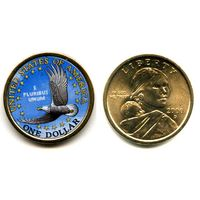 США ЦВЕТНОЙ доллар 2000 САКАГАВА NEW UNC
