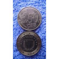 Мальта 50 евроцентов 2008г. распродажа