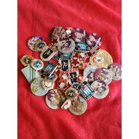Сборный лот значков с рубля.