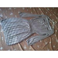 Трикотажное платье в полоску в стиле ретро, на размер 44-46