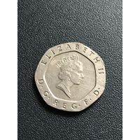 20 пенсов 1987 Великобритания