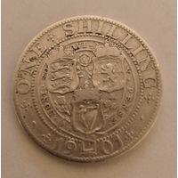Великобритания 1 шиллинг,1901г. 925пр.,Королева Виктория (1838 - 1901).