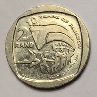 """ЮАР, 2 ранда 2004, юбилейная """"10 лет первым всеобщим выборам (свободы)"""""""