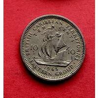 04-33 Британские Карибы, 10 центов 1965 г.