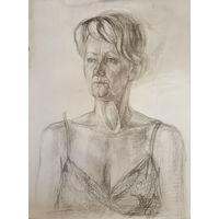 Рисунок академический, портрет женщины