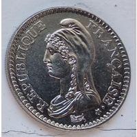 Франция 1 франк, 1992 200 лет Французской Республике 4-14-12