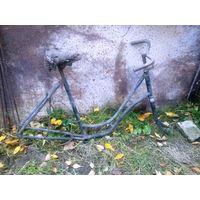Рама довоенного женского односкоростного велосипеда Osiris (KUXMANN BIELEFELD)
