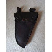 Кожаная кобура (бардачок, велосипедная сумка) для инструмента велосипеда фирмы EMKAS. Польша вторая половина прошлого столетия.