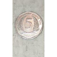 Карибы 5 центов 2002