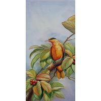 Картина маслом 105 птичка 40х80