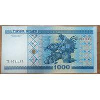 1000 рублей 2000 года, серия ТБ - UNC