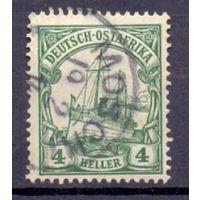 Германия Восточная Африка 4 гел Wz 1 ГАШ 1906-1920 гг