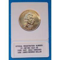1 доллар 2008г.золотое покрытие 24кар.