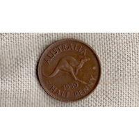 Австралия 1/2 пенни 1950/Георг/фауна/Кенгуру(Zo)