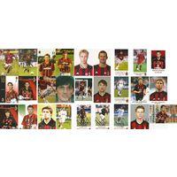 Живые автографы(27шт) игроков Милана(Италия): Pato, Rui Costa, Каладзе, Ancelotti, Кутузов и др. на больших карточках и фотографиях.