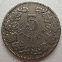 Люксембург 5 сантимов 1908 г.