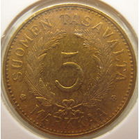 Финляндия 5 марок 1949 г. В холдере