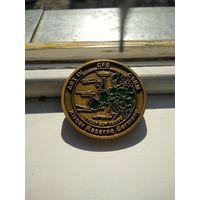 Медаль европейская,военная тематика.