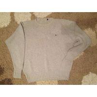 Фирменный свитер Ralph Lauren на 54 размер. Толстый и теплый, 100% хлопок. Длина69см, ПОгруди(в нерастянутом состоянии, хорошо тянется) 64, длина рукава65см. БУ, состояние не идеальное, но отличный с