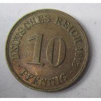 Германия. 10 пфеннигов 1913 D. 1-70