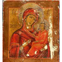 Икона Божией Матери Тихвинская. 19 Век. Без Вмешательств! Красивая!Не Упустите!
