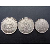 "Западная Сахара. Набор 3 монеты 1, 2, 5 песет -1992 год KM#14 KM#15 KM#16 ""Верблюд,Бедуин,Герб"""