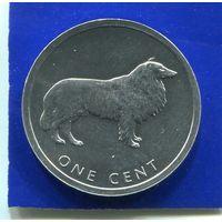 Острова Кука 1 цент 2003 , Колли , UNC