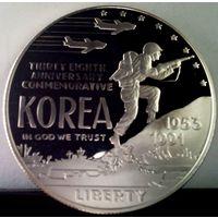 США 1 доллар 1991 год война в Корее (1953-1991) PROOF - (серебро)