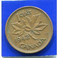Канада 1 цент 1942