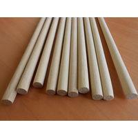 Круглые деревянные палочки, деревянные стержни, заготовки для ремесел 8мм 40см