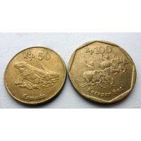50 и 100 рупий Индонезия (цена за все) - из коллекции