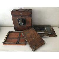 Фотоаппарат. Деревянный фотоаппарат. Студийный фотоаппарат. Довоенный. Широкоформатный. Форматный. Довоенная Германия.