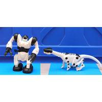 Робот и динозавр-робот одним лотом. Робот заводной, шагает.