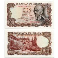Испания. 100 песет (образца 1970 года, P152, UNC)