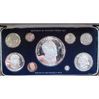 Панама годовой набор монет 1976 года. В специальной подарочной коробке + сертификаты! Идеальное состояние!!! ПРУФ!