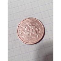 2 евроцента 2015 год. Литва.