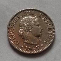 10 раппен, Швейцария 1957 г.