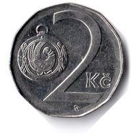 Чехия. 2 кроны. 1997 г. Единственное предложение данного года на АУ