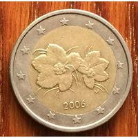 Финляндия, 2 евро 2006. Старый тип - старая карта Европы на реверсе