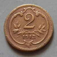 2 геллера, Австро-Венгрия 1913 г.