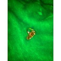 Кольцо золотое с Янтарем 585 проба 4 гр