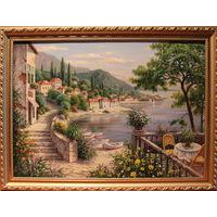 Картина маслом 146 ривьера 1 60х80