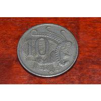 10 центов 1968 Австралия медно-никелевый сплав