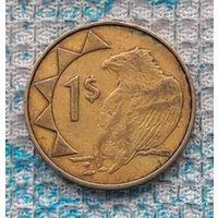 Намибия 1 доллар 1993 года. Орел. Герб Намибии. Новогодняя распродажа!!!