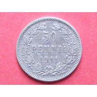 50 пенни 1911 L серебро