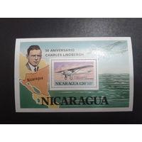 Никарагуа 1977 50 лет перелету Линберга блок Mi-12,0 евро
